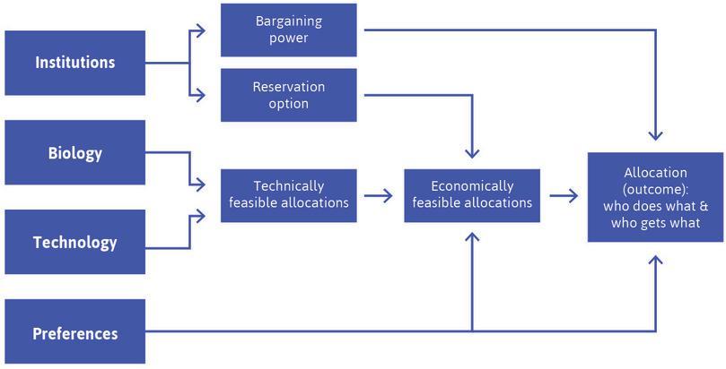 The fundamental determinants of economic outcomes.