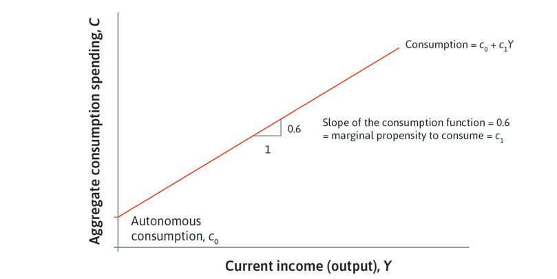The aggregate consumption function.