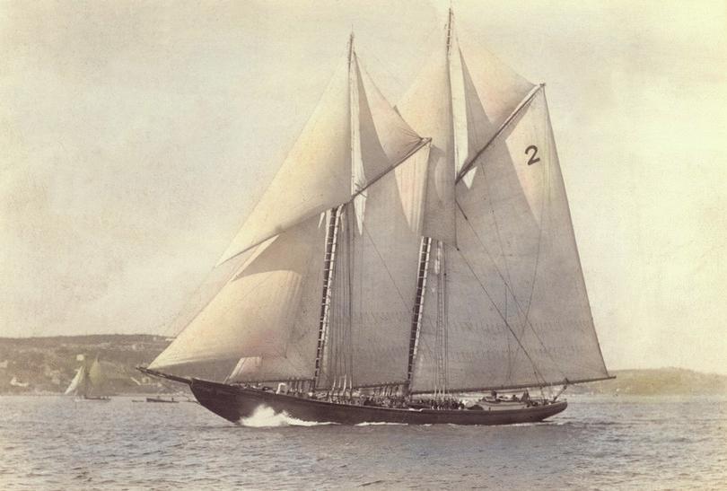 The Grand Banks fishing schooner, The Bluenose.