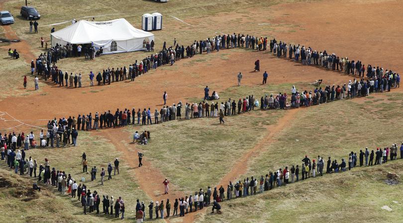 Élections en Afrique du Sud : FARRELL/AP/REX/Shutterstock