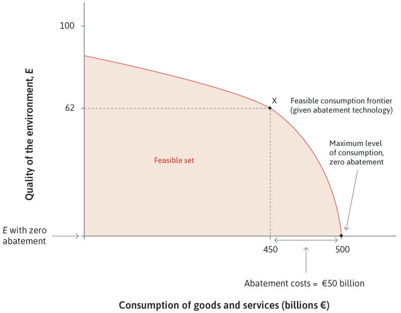 Feasible consumption and environmental quality.