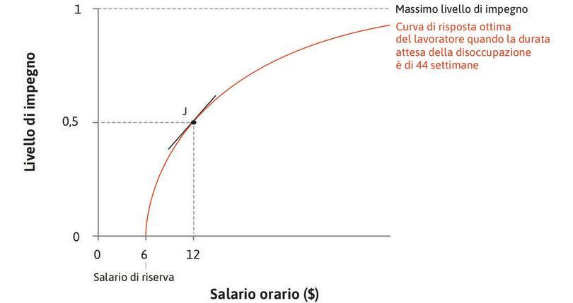 L'effetto di un aumento di salario quando il livello di impegno è basso : Quando il salario è basso, la curva di risposta ottima è ripida: un aumento minimo di salario aumenta di molto il livello di impegno.