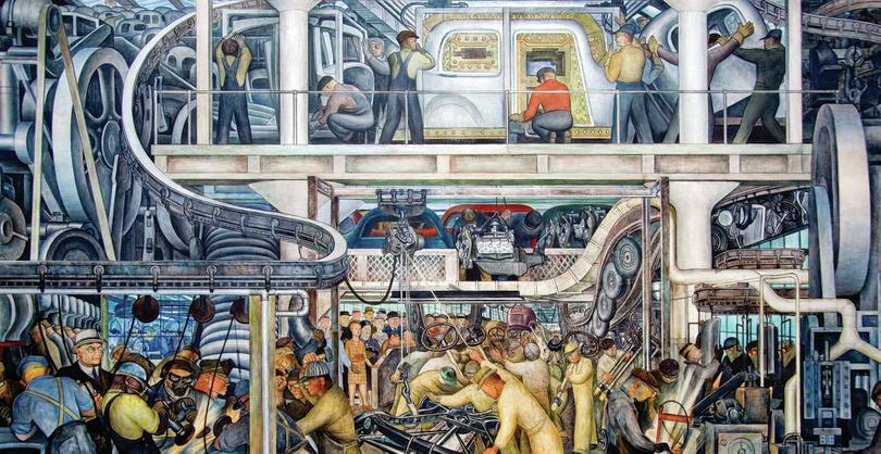 L'industria di Detroit, Murales di Diego Rivera: Art Directors and TRIP/Alamy Stock Photo